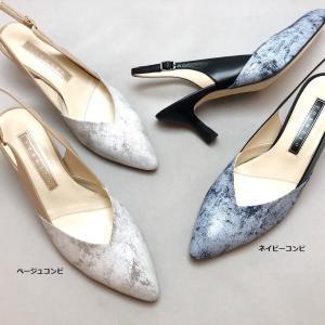 YOSHITO ヨシト パンプス バックバンド ペイント ヒール 靴 85yst7139ss21 akai-kutsu
