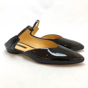 YOSHITO ヨシト ミュール 前つまり スリッパシューズ エナメル パンプス 靴 85yst8703ble akai-kutsu
