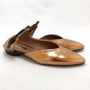 YOSHITO ヨシト ミュール 前つまり スリッパシューズ メタリック 箔 パンプス 靴 85yst8703bz akai-kutsu