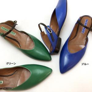 YOSHITO ヨシト ミュール 前つまり スリッパシューズ ラム 柔らか パンプス 靴 85yst8703grbu akai-kutsu