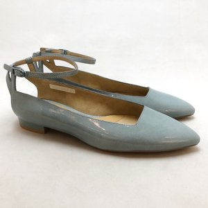 YOSHITO ヨシト パンプス アンクルストラップ エナメル ローヒール 靴 85yst8708lbue|akai-kutsu