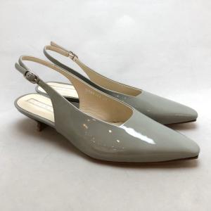 YOSHITO ヨシト パンプス バックバンド エナメル ローヒール 靴 85yst9102lgye|akai-kutsu
