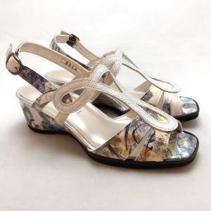 21.5cm スモールサイズ サンダル バックバンド ウェッジヒール シューズ 靴 87dm2214bu|akai-kutsu