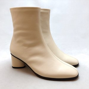 21.5cm スモールサイズ ショート ブーツ プレーン ヒール シューズ 靴 2521|akai-kutsu