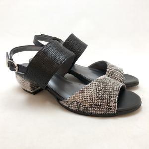21.5cm スモールサイズ サンダル バックバンド パイソン 靴 87dm6726blsn|akai-kutsu