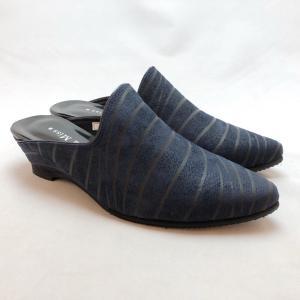 21.5cm スモールサイズ ミュール 前つまり スリッパシューズ 本革 靴 9408|akai-kutsu