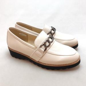 21.5cm スモールサイズ ローファー チェーン 軽量 シューズ 靴 9628|akai-kutsu