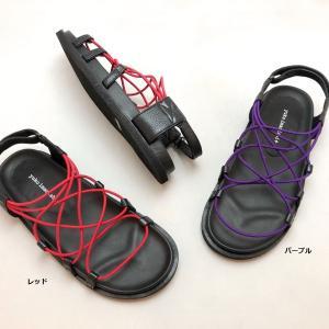 yuko imanishi+ ユウコイマニシプラス サンダル ゴム リゾート カジュアル 本革 靴 88yi702026 akai-kutsu