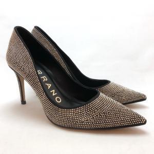 CARRANO カラーノ パンプス ストーン ホットフィックス ハイヒール 靴 90ic691120blc akai-kutsu