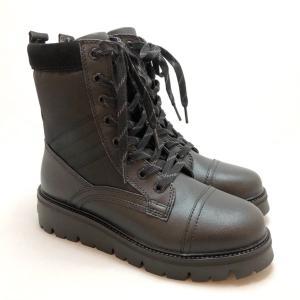 bussola ブソラ コンバットブーツ 厚底 レースアップ 撥水 レイン 軽量 靴 90ic905501blc akai-kutsu