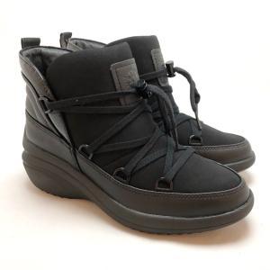 bussola ブソラ 厚底 ブーティー レースアップ 撥水 レイン 軽量 靴 90ic905516bln akai-kutsu