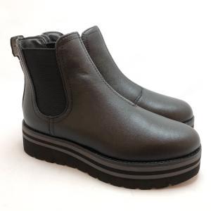 bussola ブソラ サイドゴア ブーツ 厚底 撥水 レイン 軽量 靴 90ic905521blc akai-kutsu