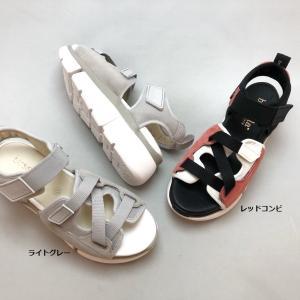 bussola ブソラ スポーツサンダル 厚底 ベルクロ コンフォート 軽量 靴 90ic905703 akai-kutsu