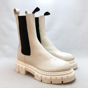 2021秋冬新作 ANGELO BERVICATO アンジェロベルヴィカート サイドゴア ブーツ タンクソール 厚底 本革 靴 e13054 w|akai-kutsu