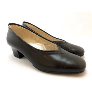SALON DE GRES サロンドグレー フォーマルパンプス 冠婚葬祭 就活 入学式 卒業式 オフィス パンプス 靴 91bl1808|akai-kutsu