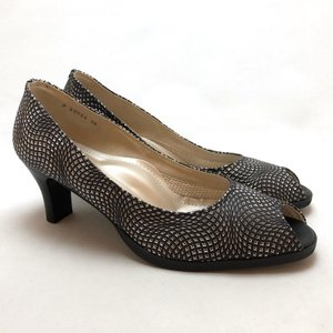 SALON DE GRES サロンドグレー パンプス オープントゥ 履きやすい 靴 91sg33094bl|akai-kutsu
