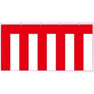 綿地紅白幕(180cm×3.6m)紐付:式典・イベント・卒業式・入学式で、使用される紅白幕|akai-tropfy