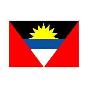 アンティグア・バーブーダ国旗140×210cm|akai-tropfy