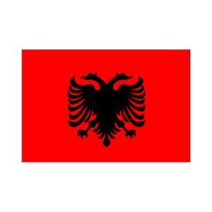 アルバニア国旗90×135cm|akai-tropfy