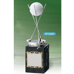 ホールインワン記念 BT2530:ホールインワンの記念ボールを飾れる お祝い用の記念品 記念ブロンズトロフィー|akai-tropfy