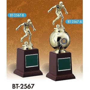 サッカー用ブロンズ 卒業記念品 部活 名入れ BT2567A:卒業記念・サッカー大会オススメのサッカー用ブロンズ akai-tropfy