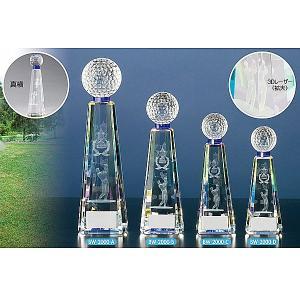 ゴルフ用クリスタル BW2000D:ゴルフコンペの記念品、景品には、ガラス製の高級なゴルフ用のクリスタルトロフィー|akai-tropfy