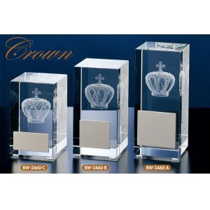 クリスタルブロンズ BW2460A:社内表彰・企業表彰・周年記念・コンテスト用に高級感あるガラス製トロフィー・クリスタルトロフィー|akai-tropfy