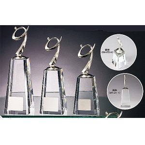 ゴルフ用クリスタル BW2514B:ゴルフコンペの記念品、景品には、ガラス製の高級なゴルフ用のクリスタルトロフィー|akai-tropfy