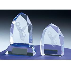 クリスタルブロンズ CM387B 社内表彰・企業表彰・周年記念・コンテスト用に高級感あるガラス製トロフィー・クリスタルトロフィー|akai-tropfy
