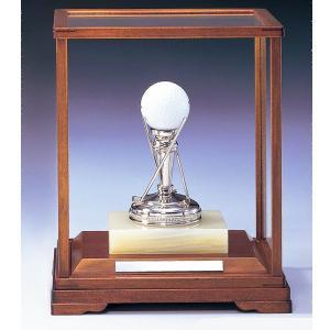 ホールインワン用クリスタルブロンズ G2:ホールインワンの記念ボールを飾れる記念品 記念クリスタルブロンズトロフィー|akai-tropfy