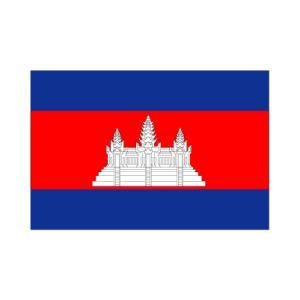 カンボジア卓上旗|akai-tropfy