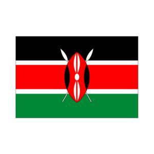 ケニア卓上旗|akai-tropfy