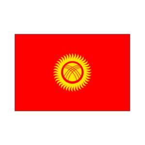 キルギス卓上旗|akai-tropfy