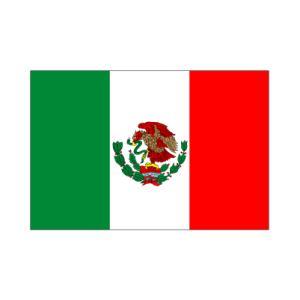 メキシコ国旗90×135cm akai-tropfy