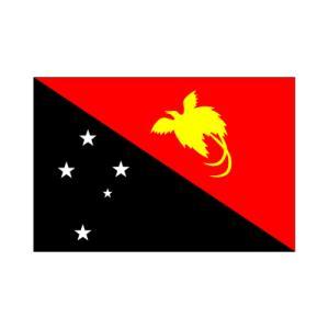 パプアニューギニア国旗 akai-tropfy
