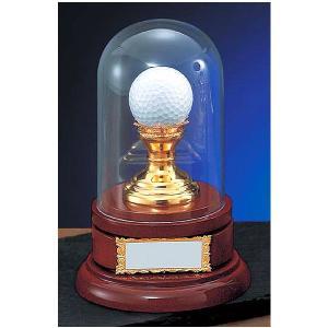 ホールインワン記念 VT3393:ホールインワンの記念ボールを飾れる お祝い用の記念品 記念ブロンズトロフィー|akai-tropfy