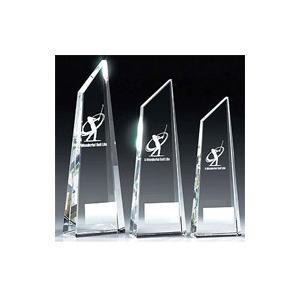 ゴルフ用クリスタル VT3400E:ゴルフコンペの記念品、景品には、ガラス製の高級なゴルフ用のクリスタルトロフィー|akai-tropfy
