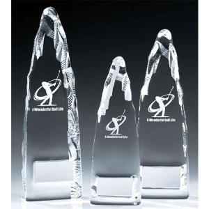 ゴルフ用クリスタル VT3405A:ゴルフコンペの記念品、景品には、ガラス製の高級なゴルフ用のクリスタルトロフィー|akai-tropfy