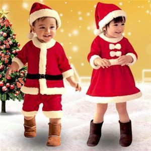 【送料無料】クリスマス サンタ キッズ 衣装 ベビー服 男の子 女の子 仮装 セット 帽子付き 子供 サンタクロース サンタ コスプレ赤ちゃん|akalui