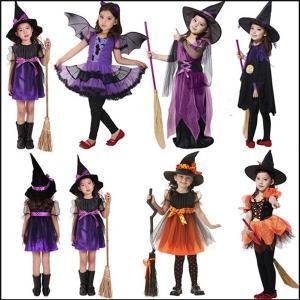 5タイプ 子供用 巫女 悪魔 魔女 ハロウィン 衣装 女の子 キッズ デビル かぼちゃ コスチューム コスプレ パーティー仮装 衣装 可愛い 演出服 キッズ イベント|akalui