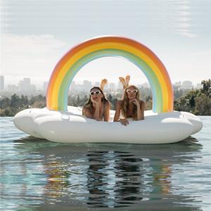 浮き輪 ビッグサイズ 大人 SNSで人気浮輪 うきわ レインボー フロート Rainbow ビーチグッズ ボート プール 浮き輪 浮輪 エアフロート送料無料|akalui