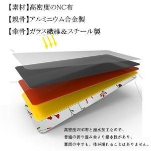 手書き風花柄日傘 晴雨兼用 軽量 UVカット ...の詳細画像1