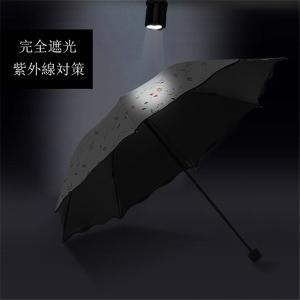 手書き風花柄日傘 晴雨兼用 軽量 UVカット ...の詳細画像3