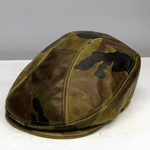 NEWYORK HAT #9257 CAMO LEATHER 1900|akamonbrother-rsgear