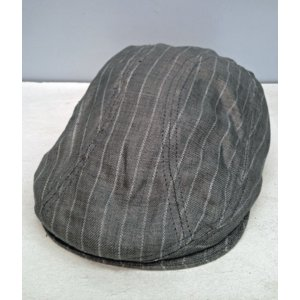 New York Hat #6266 STRIPED LINEN 1900|akamonbrother-rsgear
