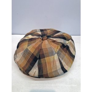 NEWYORK HAT LINEN PLAID NEWSBOY|akamonbrother-rsgear
