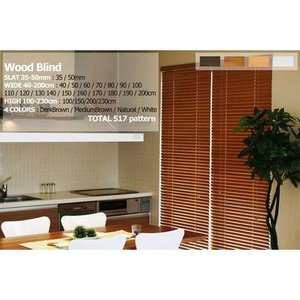 木製ブラインド 羽幅35 幅約131x高100cmウッドブラインド akane-mart