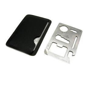 サバイバルグッズ マルチツール 多機能 カード型 アウトドア キャンプ 携帯工具 防災グッズ ad052|akaneashop