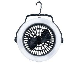扇風機 LEDランタン ライト 多機能 ファン付き ポータブル テントライト 吊り下げ可 キャンプ アウトドア ad159|akaneashop