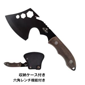 手斧 斧 コンパクト ミニ 持ち運び 六角レンチ 巻き割り 焚き火 軽量 ad244|akaneashop